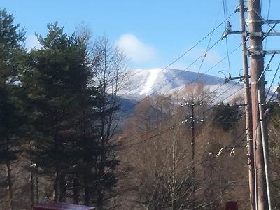 猫魔スキー場にも雪が降りました
