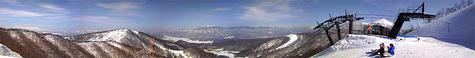 猫魔スキー場の絶景