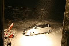3月25日の吹雪