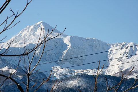 冬の磐梯山火口