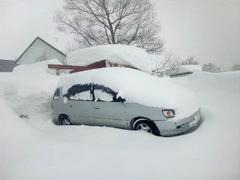 裏磐梯積雪20110201