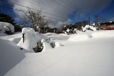 裏磐梯積雪情報110118_2