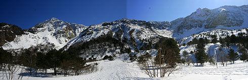 磐梯山火口パノラマ
